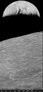 First View of Earth from Moon - reprocessed